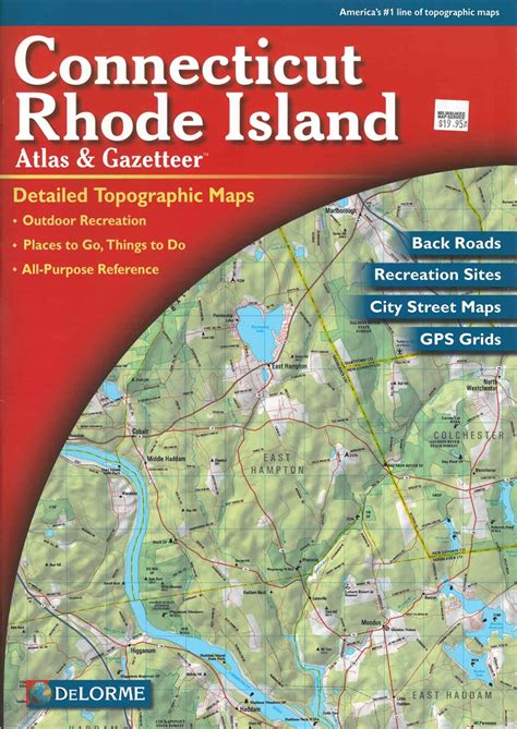 map of ri and ct themapstore delorme connecticut and rhode island atlas