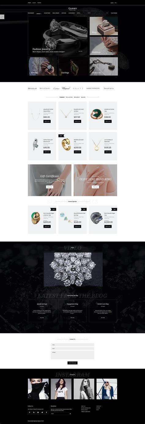 drupal themes jewelry jewelry store opencart template