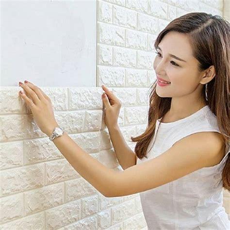 wallpaper  modern foam batu bata brick dekorasi wall