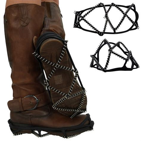 no slip boots new womens mens shoe snow grips grippers cleats