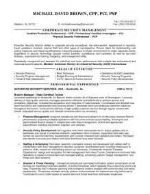 security manager resume sles security manager resume