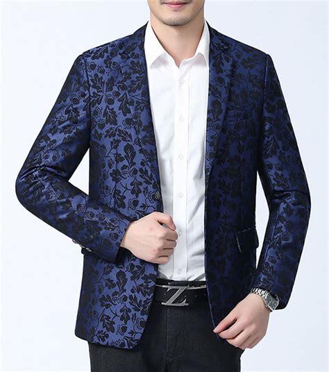 Blue Flower Blazer 8825 brilliant tailored cool blue floral awesome mens blazer