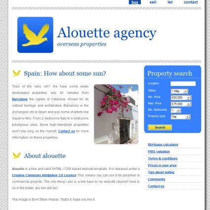 free download css templates for advertising agency alouette agency template free website templates in css