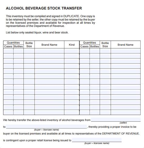 15 liquor inventory templates free excel pdf documents