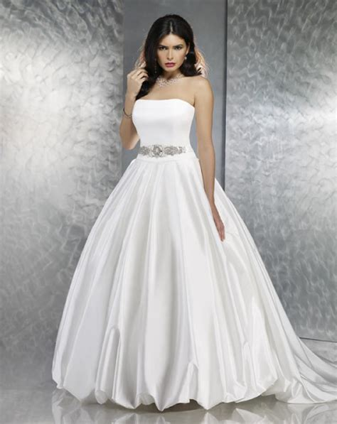Cheap White Wedding Dresses by White Cheap Strapless Princess Wedding Dress Sang Maestro