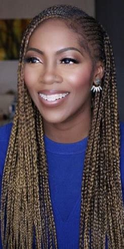tiwa savage hair styles tiwa savage is all shades of cute in long braids