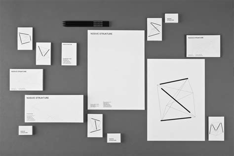 graphic design stationery layouts new brand identity for nosive strukture by bunch bp o
