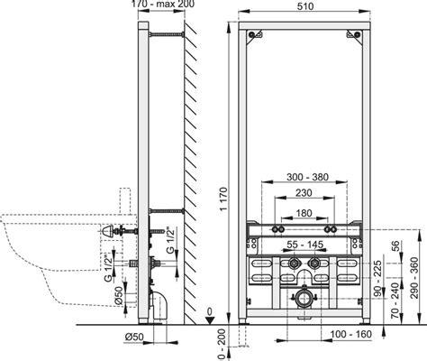 anschluss bidet bidet vorwandelement f 252 r wandmontage in bauh 246 hen 45cm