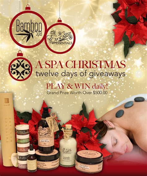 a spa christmas twelve days of giveaways bamboo spa
