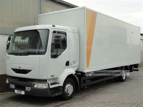 Box Truck With Sleeper by Renault Midlum 220 Dci Air Webasto Sleeper 2005 Box