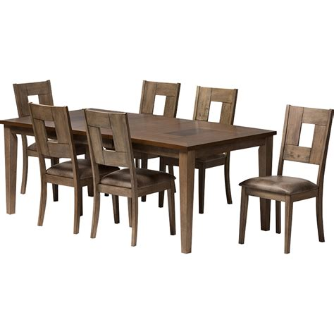 extendable dining sets gillian 7 piece extendable dining set brown weathered