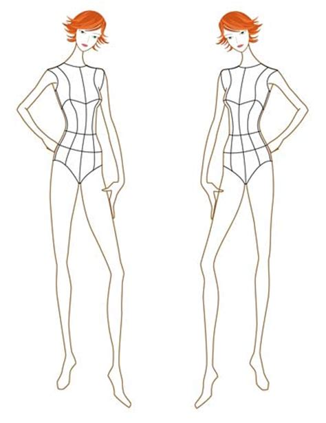 free fashion figure templates pin back croquis templates on