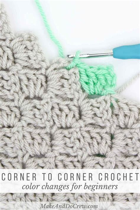 how to change color in crochet how to change colors in corner to corner crochet change