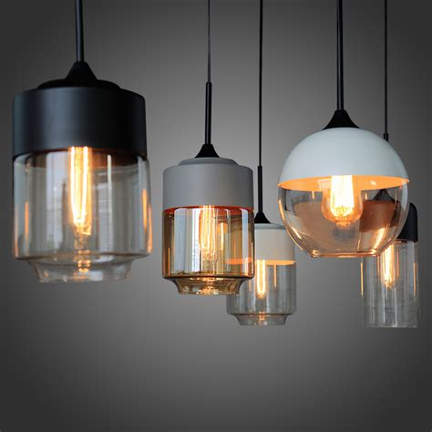 loft industrial clear glass shade pendant l with edison