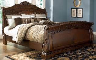 King Size Bed Furniture Shore King Size Sleigh Bed From Millennium By