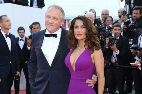 Salma Hayek Is Engaged And Knocked Up by Salma Hayek Husband Francois Henri Pinault Cozy Up In