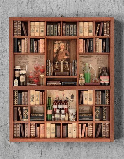librerie on line italia farmacia libreria in miniatura fatta a mano in italia