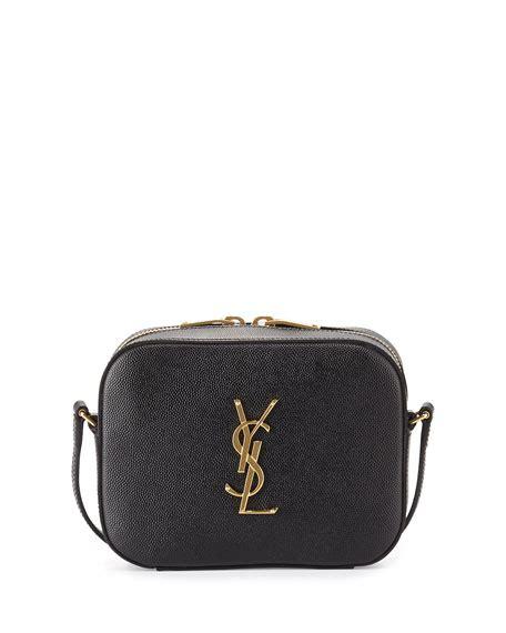 saint laurent monogram camera crossbody bag black