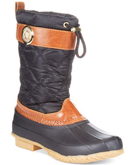 macy s sorel boots hilfiger s arcadia duck boots winter boots