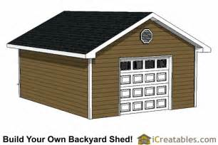Garage Shed Designs 16x20 Garage Shed Plans Build A Shed With A Garage Door