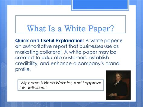 What Is Paper - getting started with white paper marketing