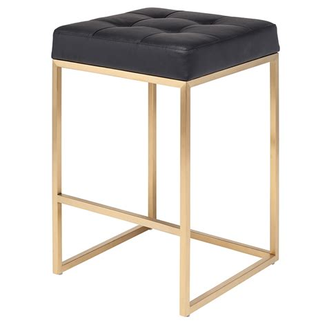 Brushed Gold Bar Stools by Rn 1065 Stylish Backless Bar Counter Stool W Brushed
