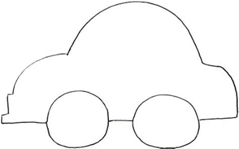 template for a car car outlines cliparts co