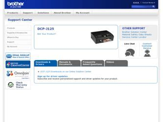 brother international dcp j125 support and manuals brother international dcp j125 driver and firmware downloads