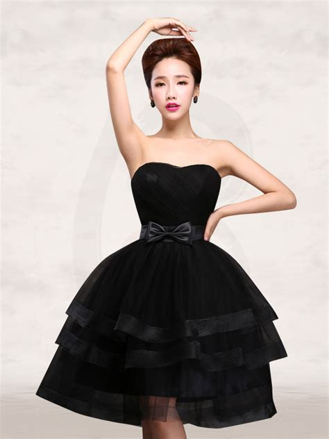 black ruffle strapless sweetheart short prom dress red chinese dress