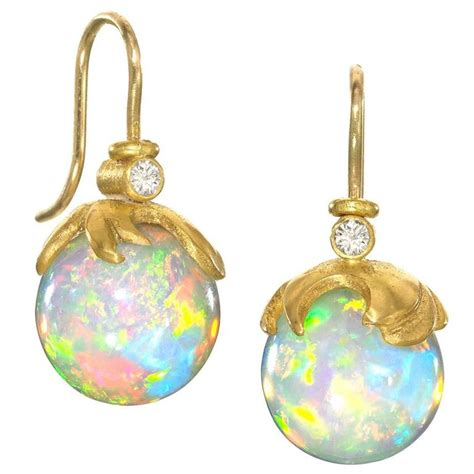 lilly fitzgerald handcarved opal sphere gold drop
