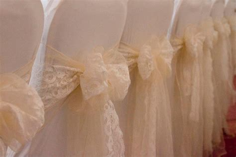 Lace Chair Sashes by Truly Scrumptious Weddings