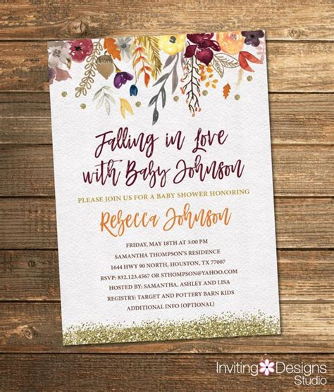 Autumn Baby Shower Invitations by Fall Baby Shower Invitation Autumn Baby Shower