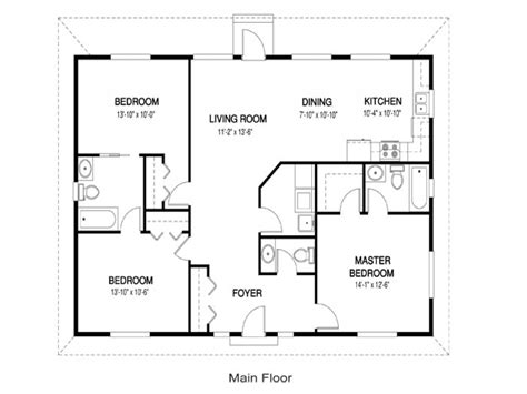 28 open concept floor plans 1440 sqft wing shape
