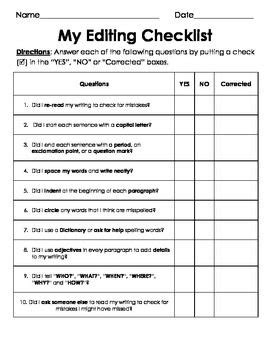 biography writing checklist ks2 25 best ideas about editing checklist on pinterest