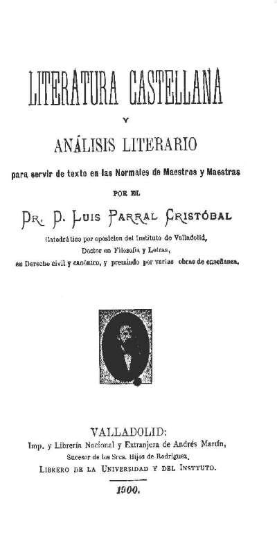 Literatura castellana y análisis literario para servir de