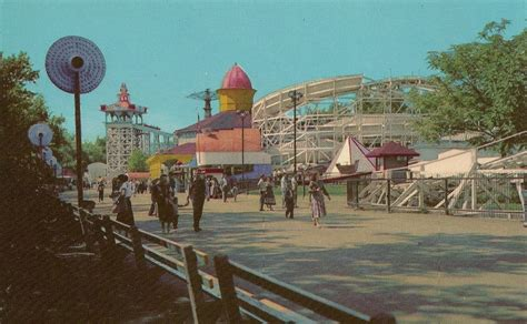 theme park chicago flying turns at riverview park chicago il postcard