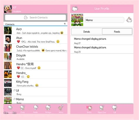 hello kitty messenger themes apk kitty fang bbm blackberry messenger hello kitty theme