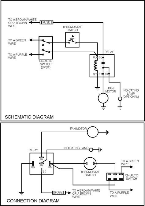 electromagnetic relay circuit diagram fan and electric fan relay wiring diagram wiring diagram
