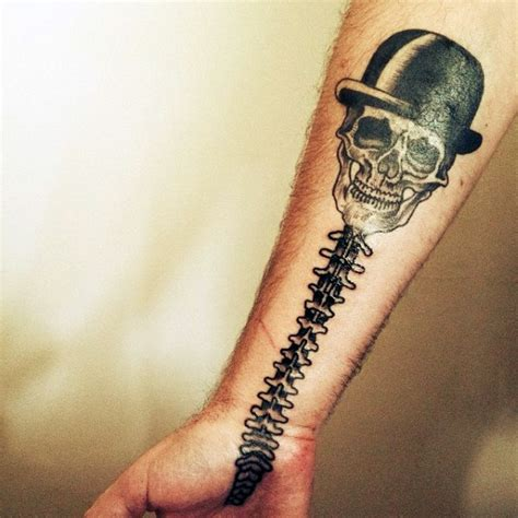spinal cord tattoo 75 spine tattoos for masculine ink design ideas