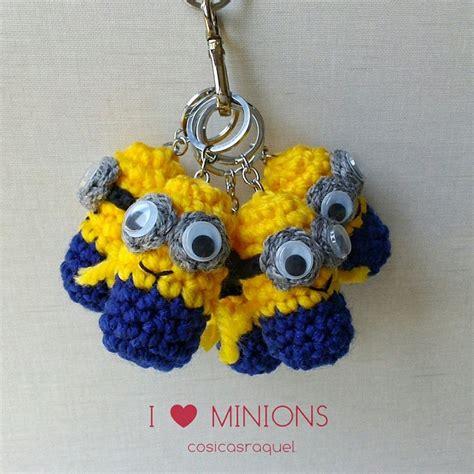 minion crochet bobs and the minions on pinterest cosicasraquel llavero minion crochet