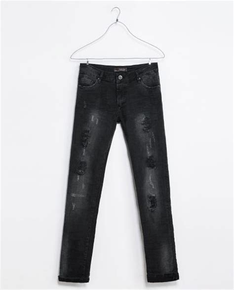 Zara Black Ripped zara ripped in black for lyst