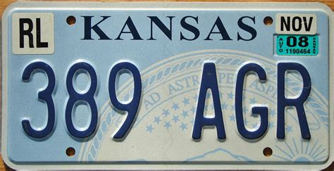 Kansas Vanity Plate by Kansas Y2k