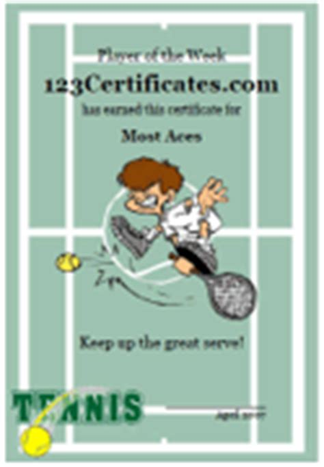 tennis gift certificate template certificates and awards templates free new calendar