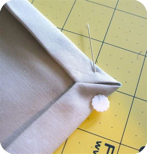 How To Do Mitered Corners On A Quilt Binding by Genius Mitered Corner Tutorial One Sewing