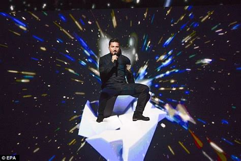 Contest At Thedailytee by Eurovision 2016 Russia Entrant Sergey Lazarev Pictured In