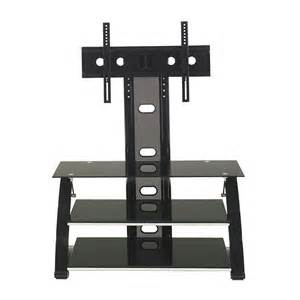 z line designs vitoria 3 shelf black glass tv stand with