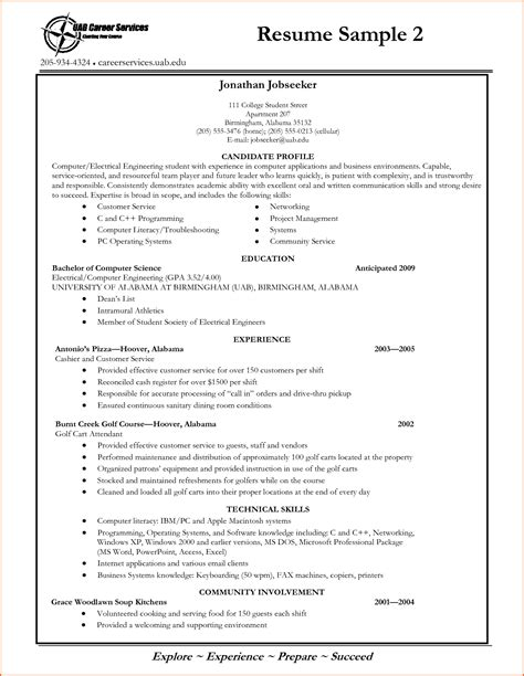 resume format for degree students free new resume exle for student objectives for resumes for