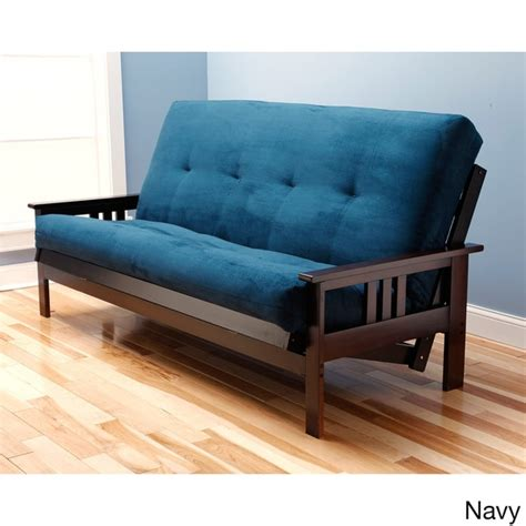 futon mattress overstock somette monterey queen size futon sofa bed with suede