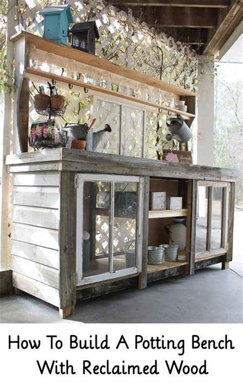 how to build a potting bench how to build a potting bench with reclaimed wood lil moo
