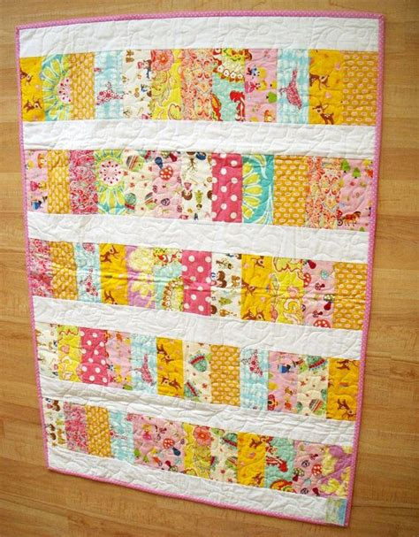 pink lemonade kawaii cuties heirloom baby crib quilt 36 x 50 ready to ship quilt designs